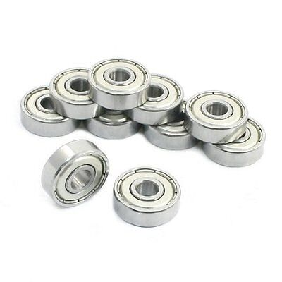 10 Pcs 606ZZ 6x17x6mm Sealed Miniature Deep Groove Radial Ball Bearing
