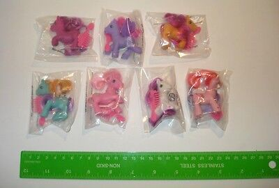 My Little Pony Collection of 7 Miniature Ponies with a comb and Hair to style
