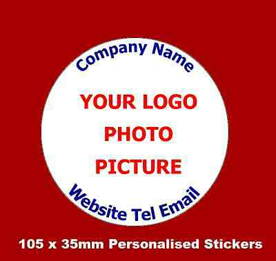 105 x Personalised Business Name Stickers Thank You Seals Your Logo Labels