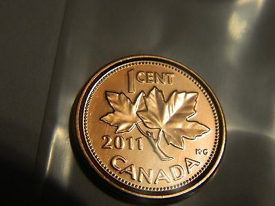 2011 Canada One Cent Penny Gem BU MS UNC--No Reserve