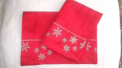Two Red/Gold Placemats for  Christmas