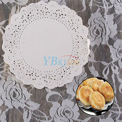 Pure Color 180Pcs/Bag Round Lace Paper Doilies For Cupcake Cookie Baked Food Mat