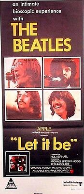 "THE BEATLES ""Let It Be"" (1968) original Australian daybill poster"