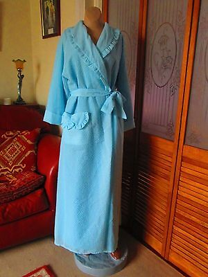 Original Vintage 60's Nylon Dressing Gown/Housecoat Size 12/14