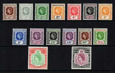 1954 QE11 Definitive set of 15 , complete , lightly mounted . SG 126/40 Cat £60.