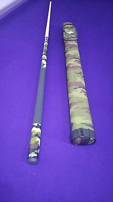 2 Piece American Pool Cue & Camouflage Case Set
