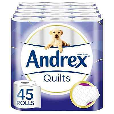 Andrex Quilts Toilet Roll Tissue Paper - 45 Rolls - SAME DAY DISPATCH