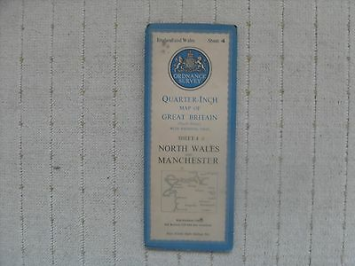 1946 OS Road Map North Wales and Manchester.