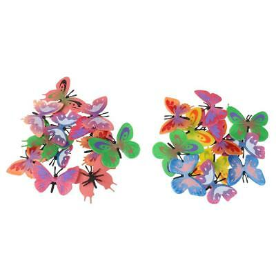 Plastic Small Butterfly Figures Simulation Moulds Kids Toy Colorful 12PCS