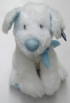 Applause Plush Puppy Dog White 10 Inch Rattle Toy EUC