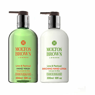 Molton Brown Lime & Patchouli 300ml Hand Wash and 300ml Hand Lotion Set