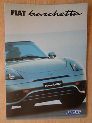FIAT BARCHETTA orig 1997 UK Market sales brochure
