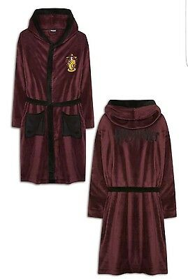 Mens / Womens Supersoft Harry Potter Hogwarts Dressing Gown Robe -  L Xl - Bnwt