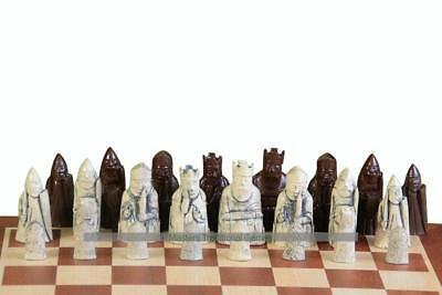 Isle of Lewis Cream and Brown colour Chess Pieces