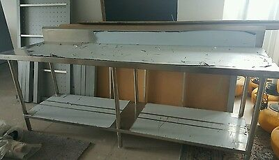 Fed Stainless Steel Kitchen Prep Table