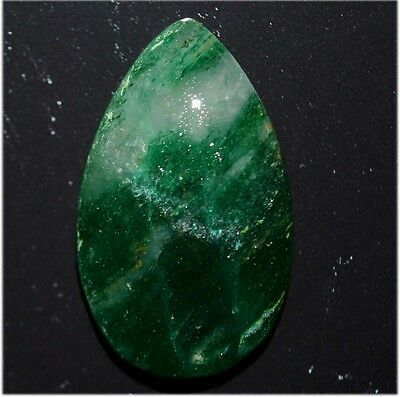 19.5Ct NATURAL AMAZING GREEN AVENTURINE PEAR CABOCHON Superior LOOSE GEMSTONE