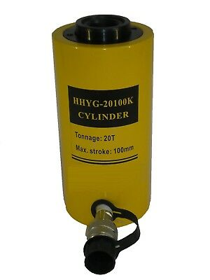 20 TON HOLLOW HYDRAULIC RAM CYLINDER WITH 100 mm STROKE. £127.00 + VAT