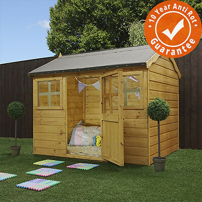 6x5 Sunflower Wooden Reverse Apex Playhouse - EN71 Safety Approved