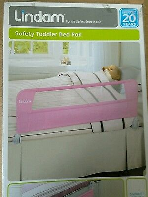 NEW Lindam Bed Rail. Pink, AL6 Collection.