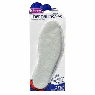 2 Pairs Of Unisex Thermal Insoles Warm Fleece Cut To Size Boots Shoes  Insole5