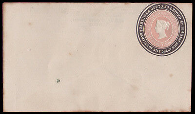 1d. Pink Stationery Envelope with advert ring, embossed Parkins & Gotto.