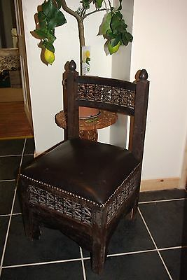 Antique Vintage Small Size Childs Teddy Doll Chair, Persian Turkish Indian
