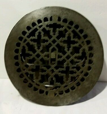 Vintage Cast Iron Heater Grate Register Round 9""