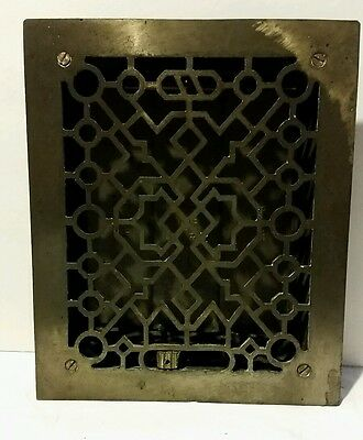 "Vintage Cast Iron Heater Grate Register 8""x10"""