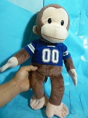 Curious George Dallas Cowboys Plush--About 16 In Tall---PreOwned & Very Clean