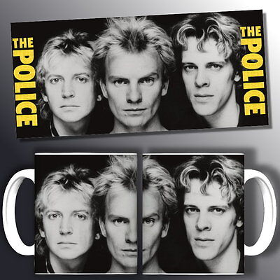 tazza mug music THE POLICE sting rock scodella ceramica