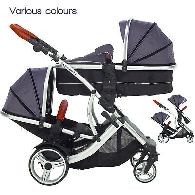 Duellette 21 CB double twin Pushchair buggy pram travel system Tandem car seat