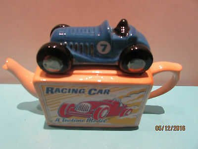 Collectable Racing Car 'a Teatime Model' Tea Pot By Teapottery.  New
