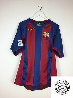 BARCELONA 04/05 Home Football Shirt (L) Soccer Jersey Nike