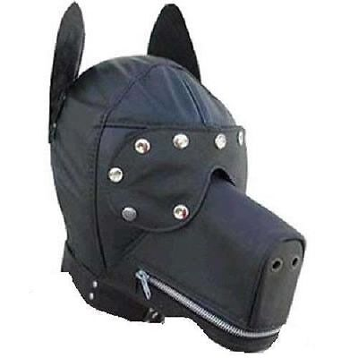 Maschera Bdsm Di Cane Cuoio Simil Similpelle Dog Leather Mask Sm (Bl-76)
