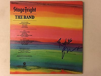 The Band Stage Fright Signed Autograph Album Robbie Robertson