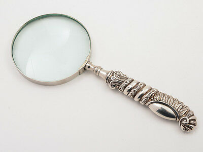 Victorian Silver Handled Magnifying Glass, Circa 1895