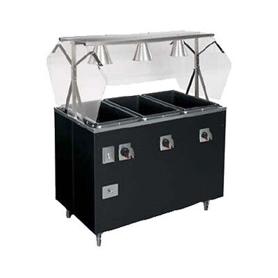 Vollrath 38707 Affordable Portable Hot Food Station - Buffet Style Breath Guard