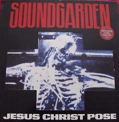 """Soundgarden   Jesus Christ pose 12"""" single sided limited edition etched disc"""
