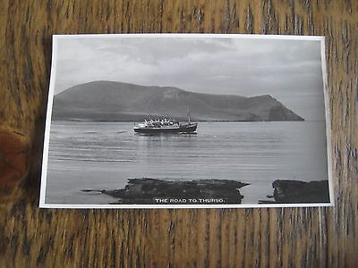 Vintage Rp Postcard The Road To Thurso Orkney W Hourston Stromness