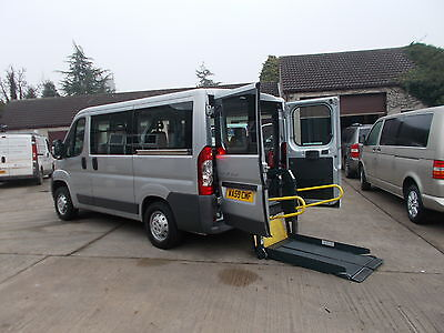 Wheelchair Accessible Wav Disabled Diesel 2009 Peugeot Boxer 4 Seats + W-Chair