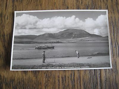 Vintage Rp Postcard Hoy Sound From Stromness Golf Course Orkney W Hourston