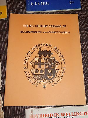 19th Century Railways of Bournemouth &  Christchurch JA Young 1979