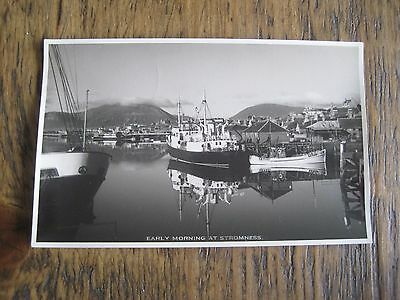 Vintage Rp Postcard Early Morning At Stromness Orkney W Hourston  Stromness