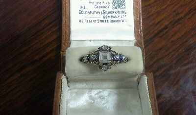 Extremely Rare Antique 17Th Century Large Table Cut Diamond Ring