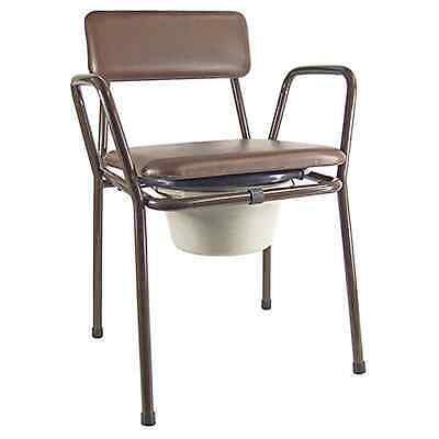 Kent Stacking Commode Chair - SAME DAY DISPATCH