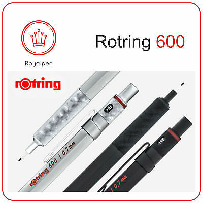 ROTRING 600 Drafting Mechanical Pencil 0.5 - 0.7 (Black -Silver)