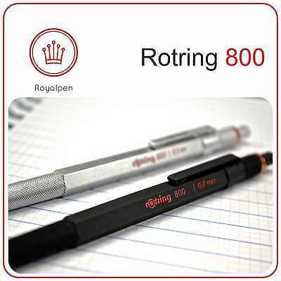 ROTRING 800 Drafting Mechanical Pencil 0.5 - 0.7 (Black -Silver) Free Shipping