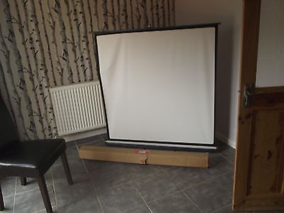 """Vintage Hunter Forum Self Standing 48""""  Projector Screen with Box"""