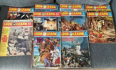Look and Learn; 10 Vintage Magazines 1970's