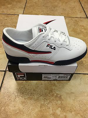 Kid's Fila Original Fitness Low White/navy/red Infant's,youth Junior Sizes 105C